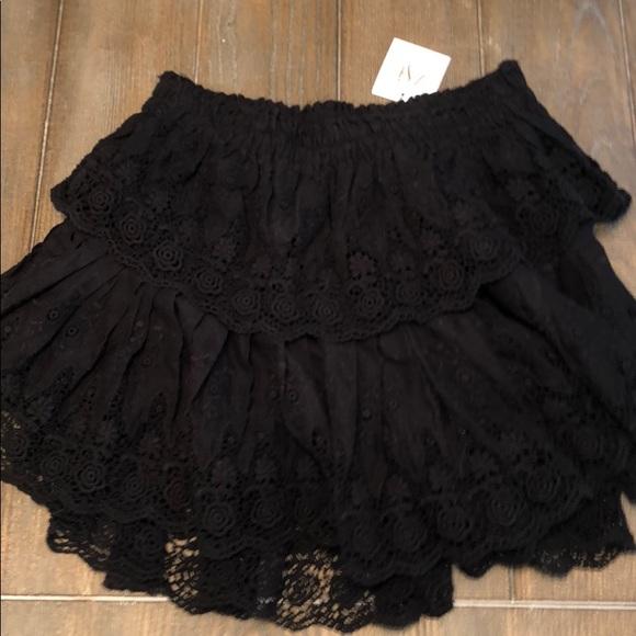 eff6cfc3a9 Love Shack Fancy Skirts | Nwt Ruffle Mini Skirt Cotton | Poshmark